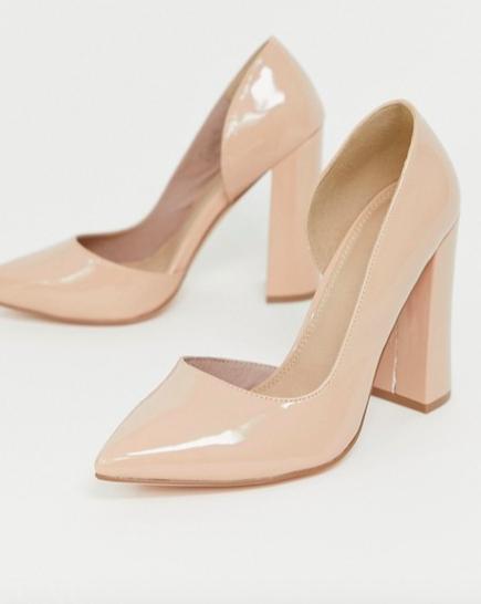 b79c5b8fd66 DESIGN Wide Fit Walter d'orsay high heels in almond in 2019   pref ...