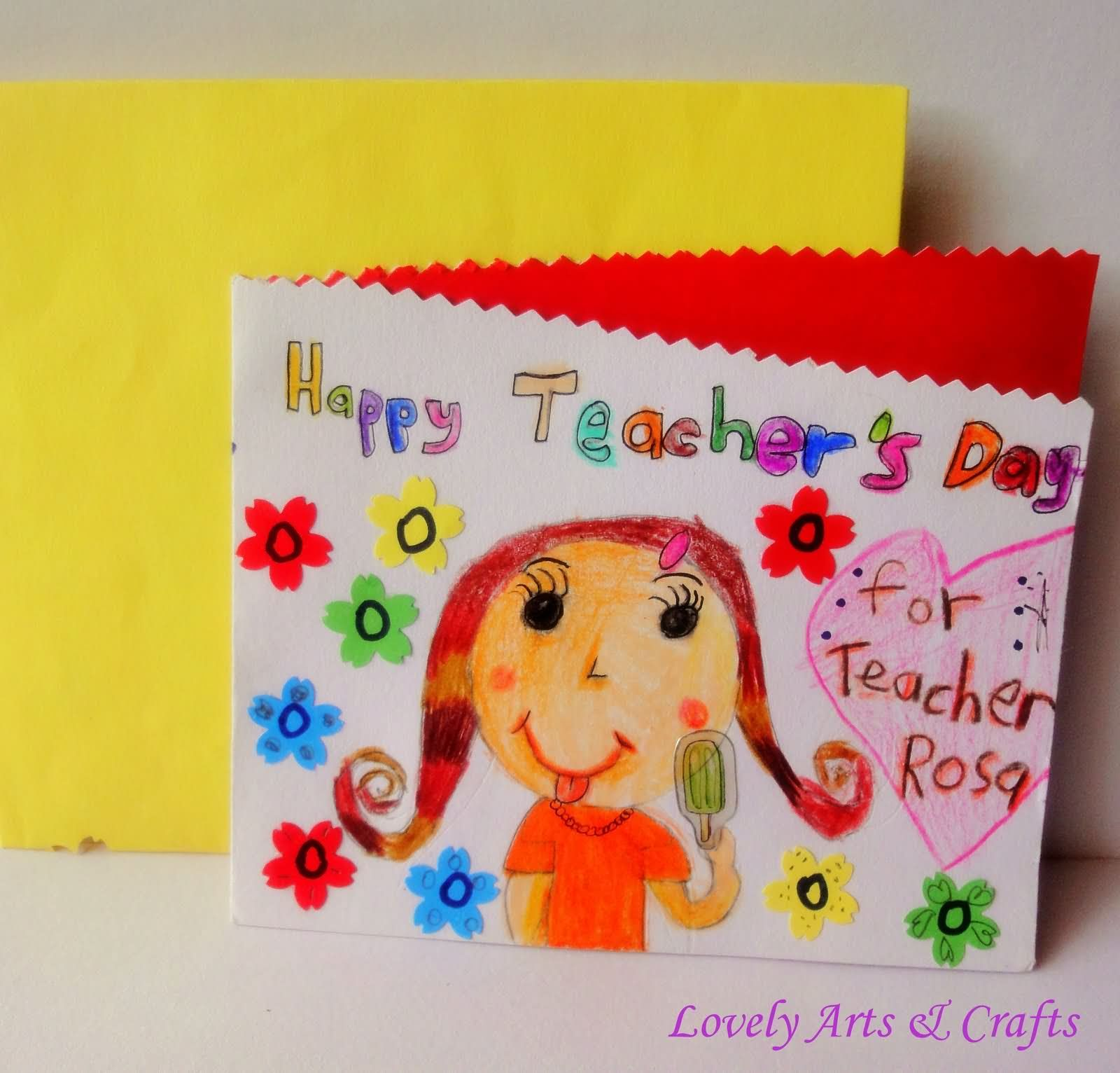 Happy teachers day hand made greeting card cards pinterest happy teachers day hand made greeting card kristyandbryce Choice Image