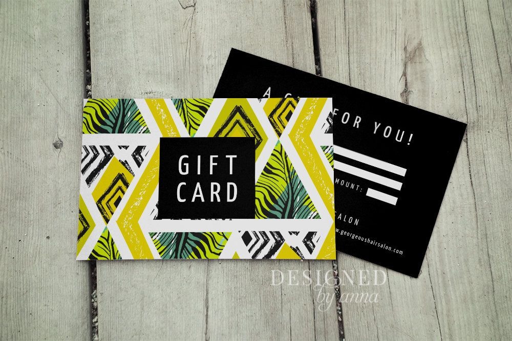 Tropical Gift Certificate Template Printable Gift Voucher Etsy Gift Voucher Design Gift Card Template Gift Certificate Template