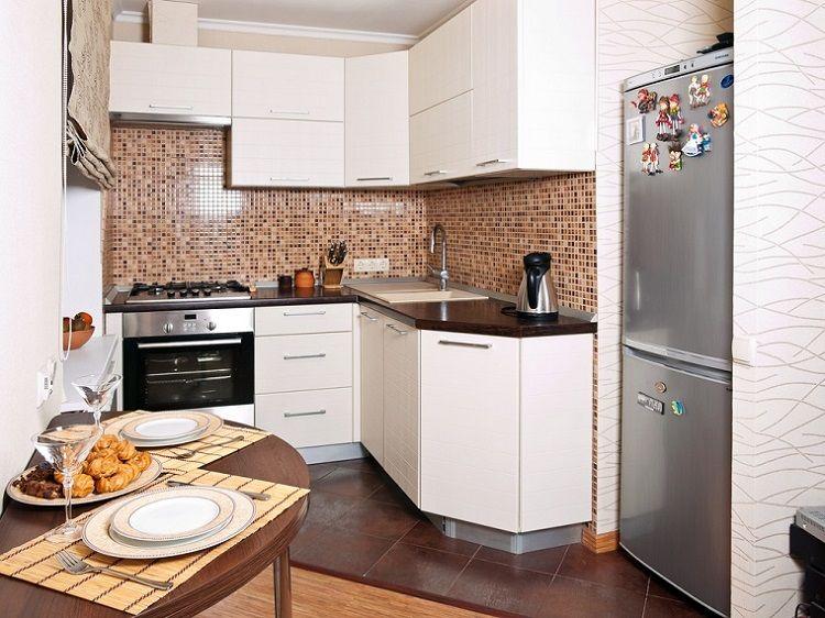 Decoracion de cocinas pequeñas 53 ideas interesantes Mosaicos