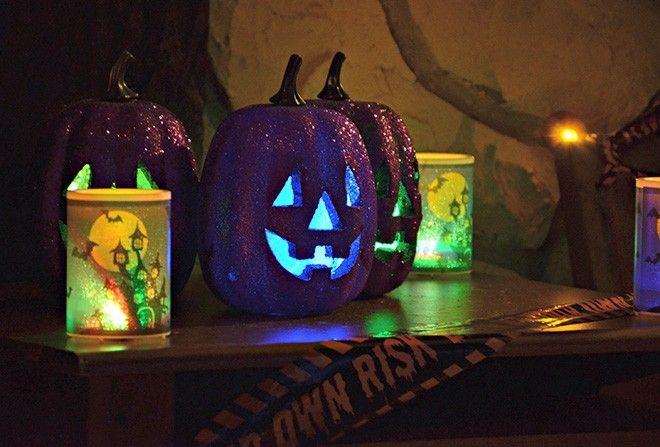 purple pumpkin on table Halloween Pinterest Budgeting