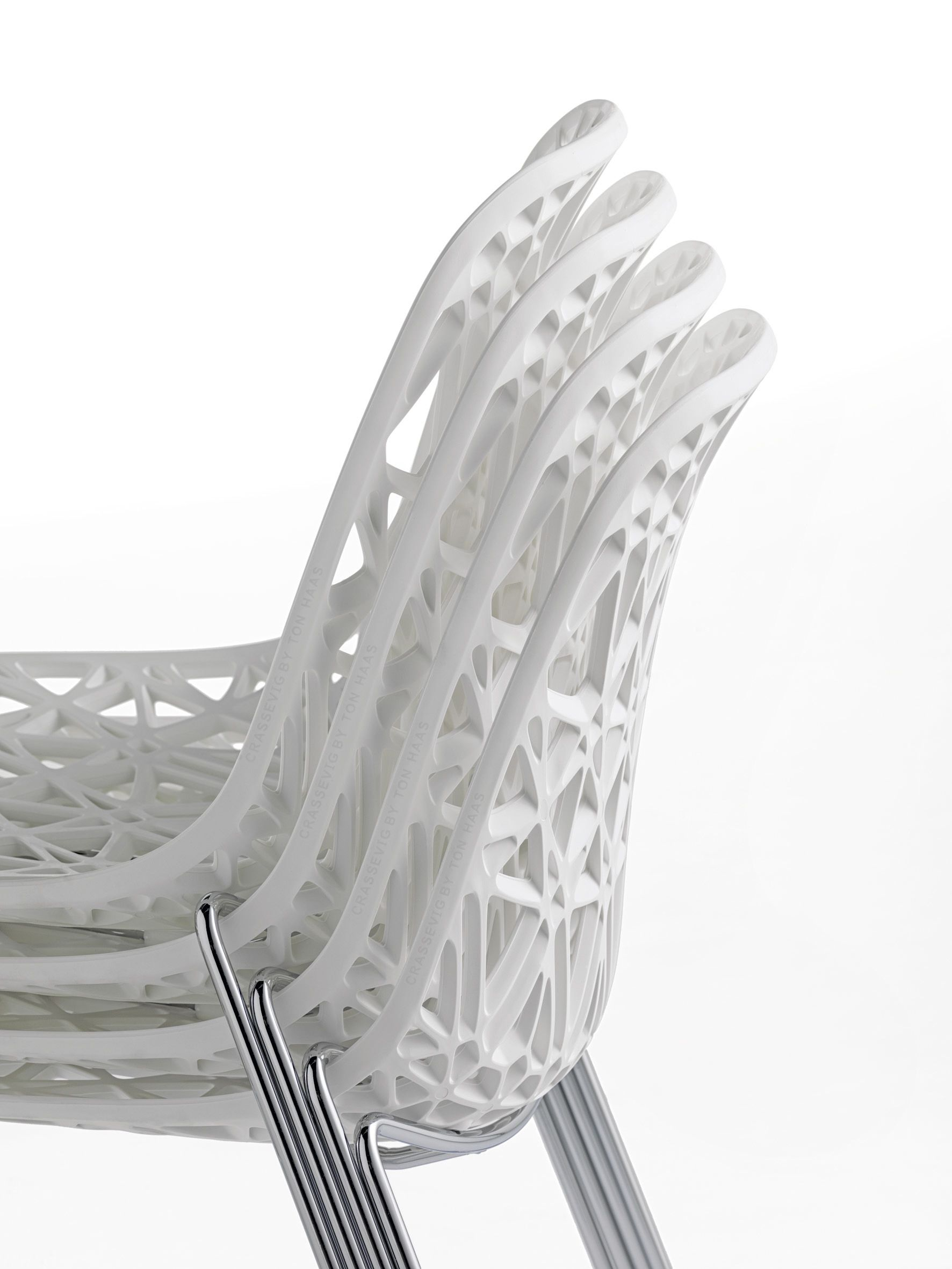 Sled Base Stackable Chair NETT R/SB By Crassevig Design Ton Haas