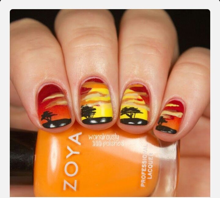 Lion King Nail Designs Pinterest