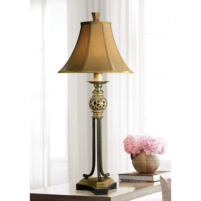 Uttermost Jenelle Gold And Iron Buffet Table Lamp 53428 Lamps