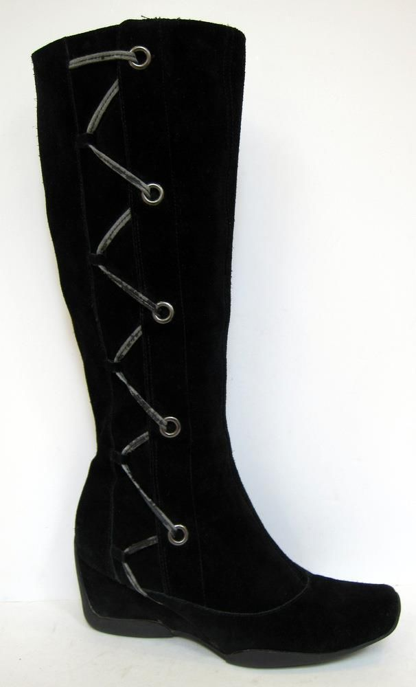 419a15aaf200 Aerosoles  Hem Stone  Black Suede Knee High Wedge Boot Size 7M  Aerosoles   FashionKneeHigh