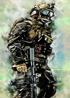 Metal Poster Army Soldier