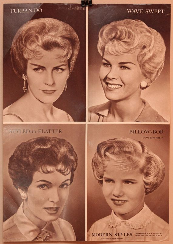 Lot Of Three Vintage Hair Salon Posters 16x22 By Oldbooksmell 8 00 Vintage Hairstyles Vintage Hair Salons 1950s Hair And Makeup