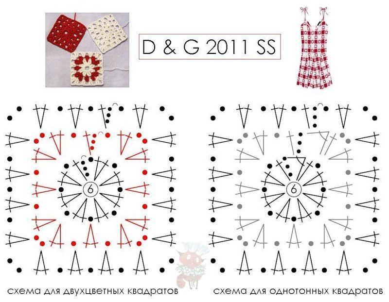 Patrones Cuadrados Crochet Para Imprimir Las Manualidades Picture ...