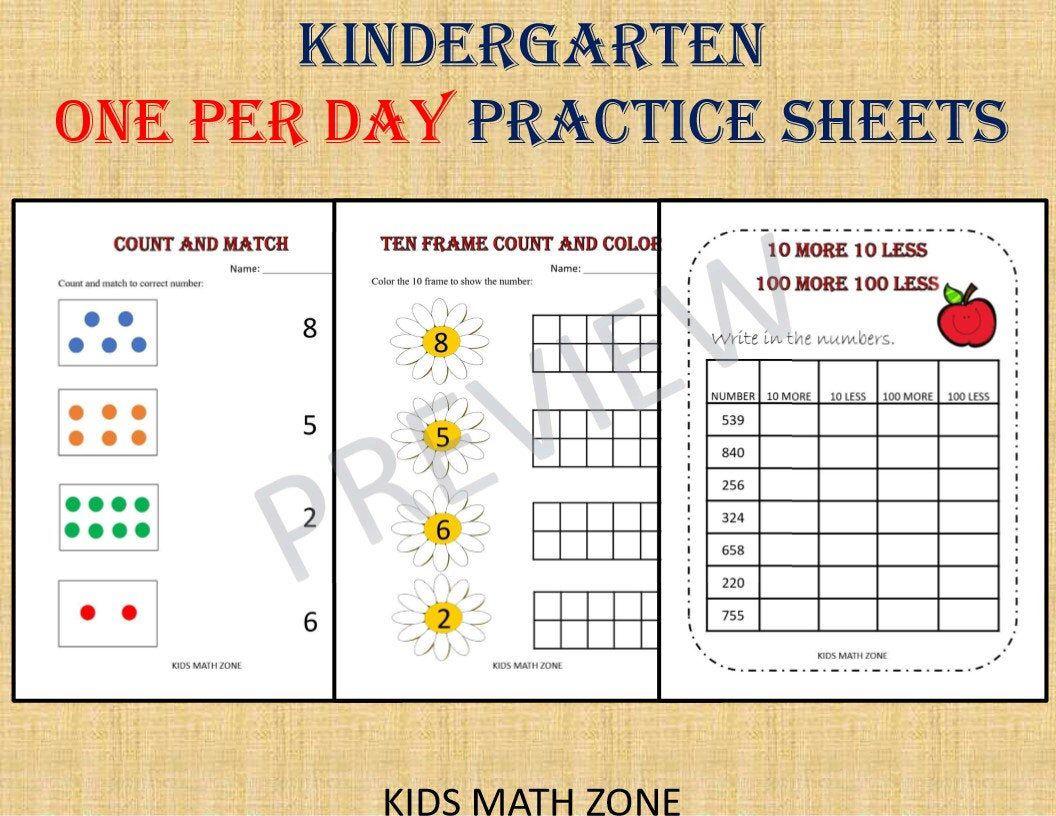 20++ Kindergarten math worksheets pdf info
