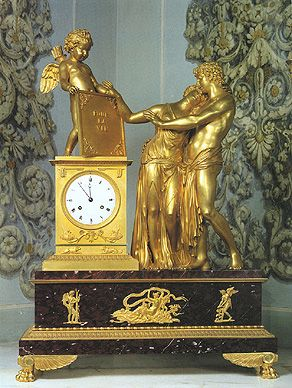 The Oath to Cupid mantel clock
