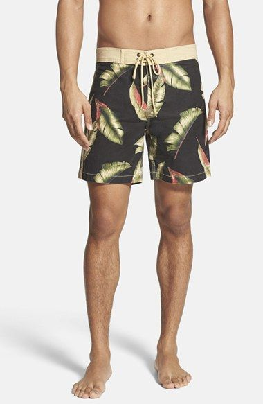 Deus Ex Machina 'Tugu Palms' Print Board Shorts available at #Nordstrom