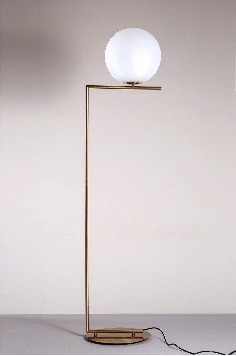 Nordic Glass Round Ball Floor Lamp Art Gold Body Stand Lamp Globe Floor Lamp Floor Lamp Modern Floor Lamps