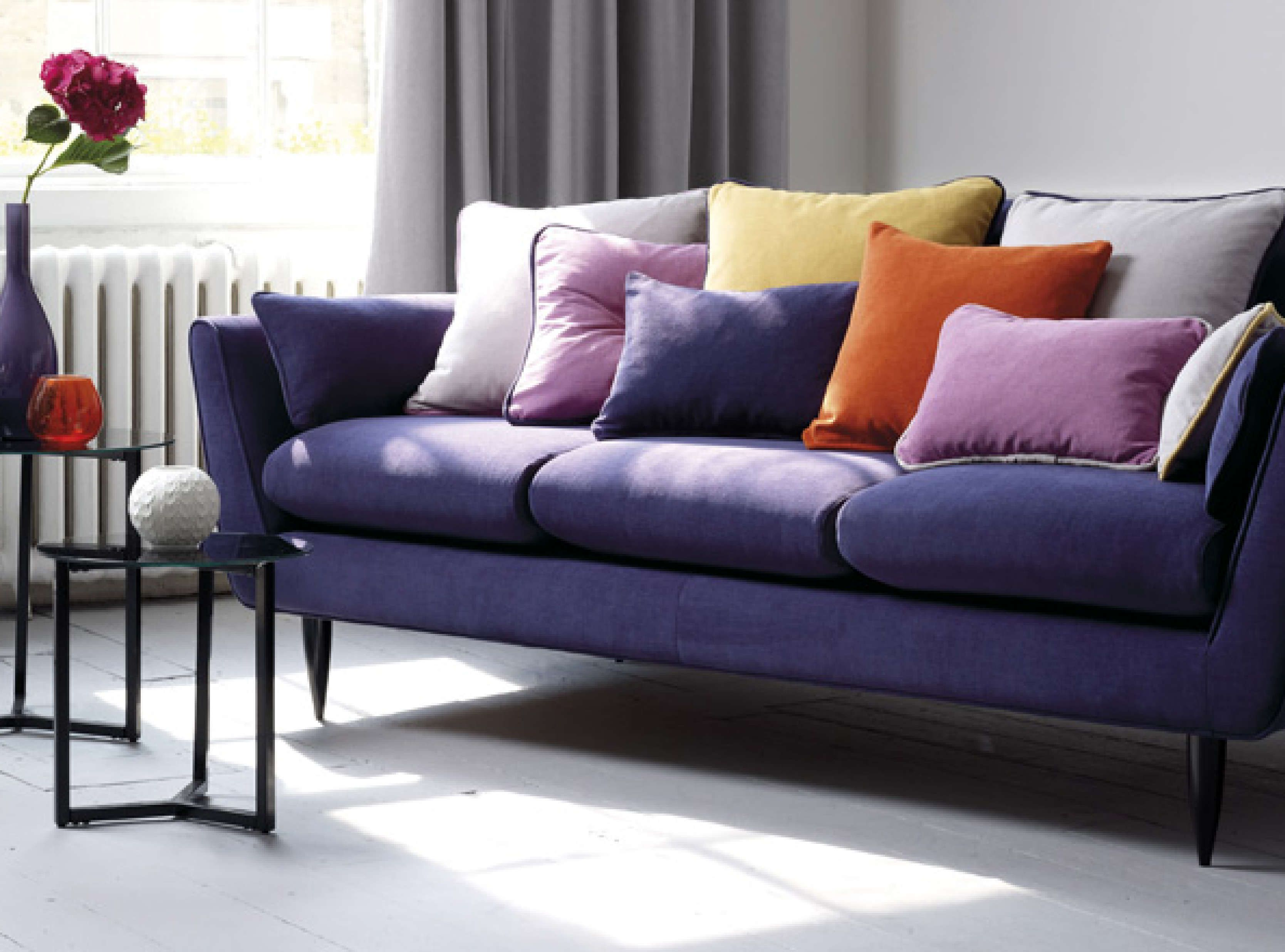 Durable Upholstery Fabric For Sofa A Chenille Plain Woven With Fibres That Have Innovative Aquaclean