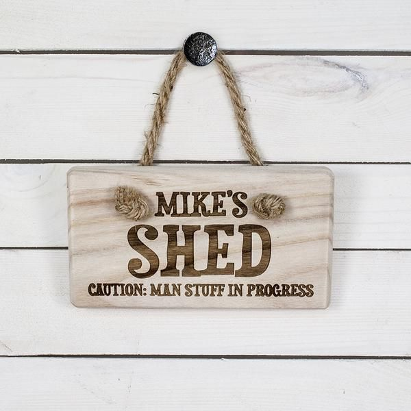 Quirky personalised wooden door sign engraved in pine wood and with ...