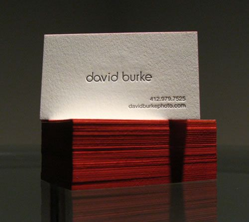 Designed by david burke photographer these unique strong business card david burke reheart Gallery