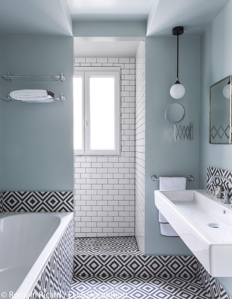 Salle De Bain Deco Bleu ~ d coration appartement noir et blanc un appart 100 noir et blanc