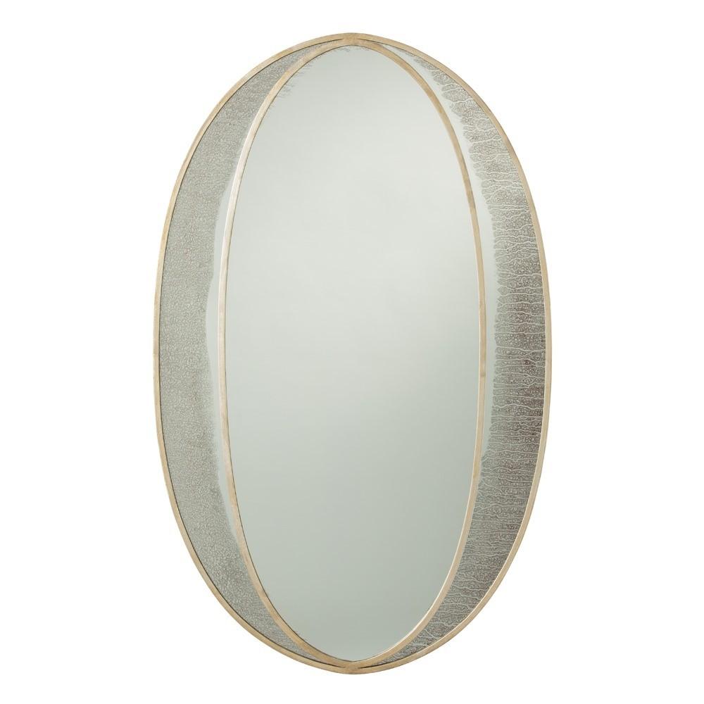Nadine Oval Mirror Antique Champagne Leaf Arteriors 6119 Oval Mirror Home Decor Mirrors Modern Mirror