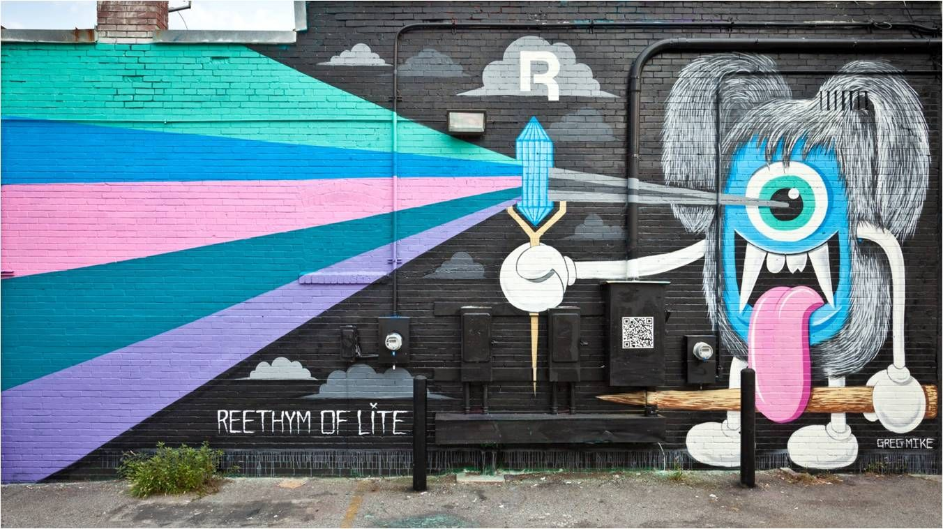 Reebok mural campaign created by Zoom in Atlanta, GA
