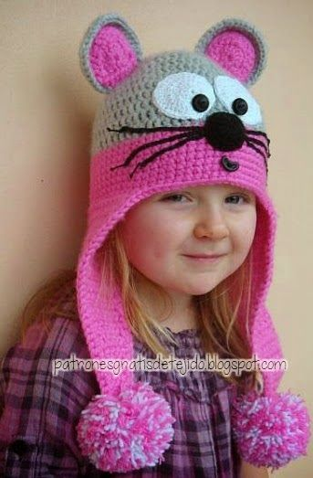 Cómo tejer un gorro con orejeras al crochet - 3 diseños | Todo ...