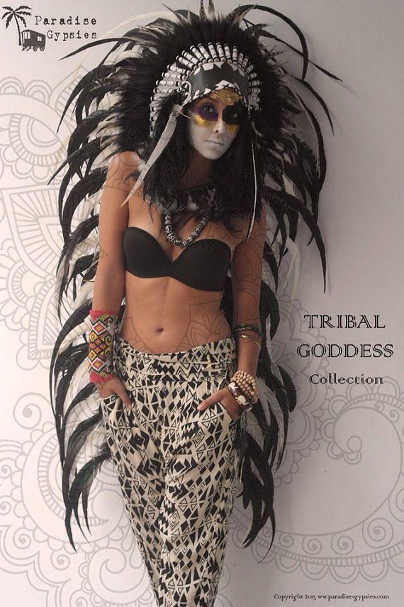 Diosa largo Tribal colección completo negro por ParadiseGypsies