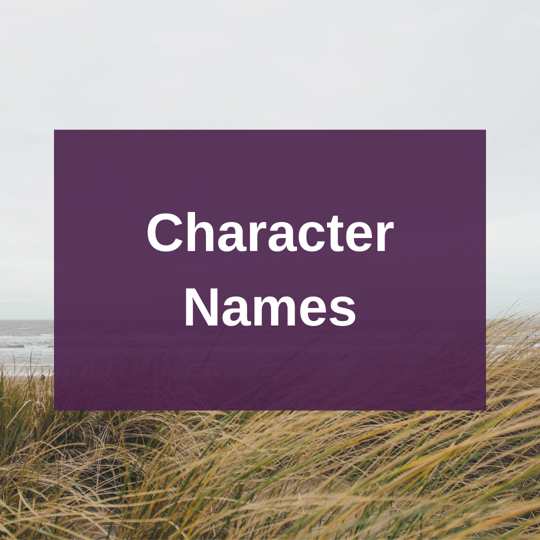 Blog For Writ On Protagonist Tips: Character Names: 8 Tips For Naming Your Fictional People