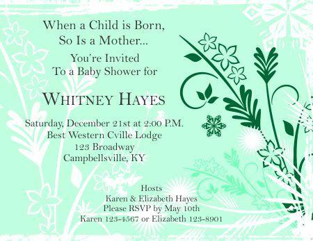 Baby Shower Invitation 1 - Green Athali Althidor Pinterest - baby shower invitation templates for microsoft word