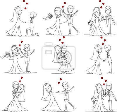 CASAMENTO | Caricatura de casamento, Casamento, Desenho de