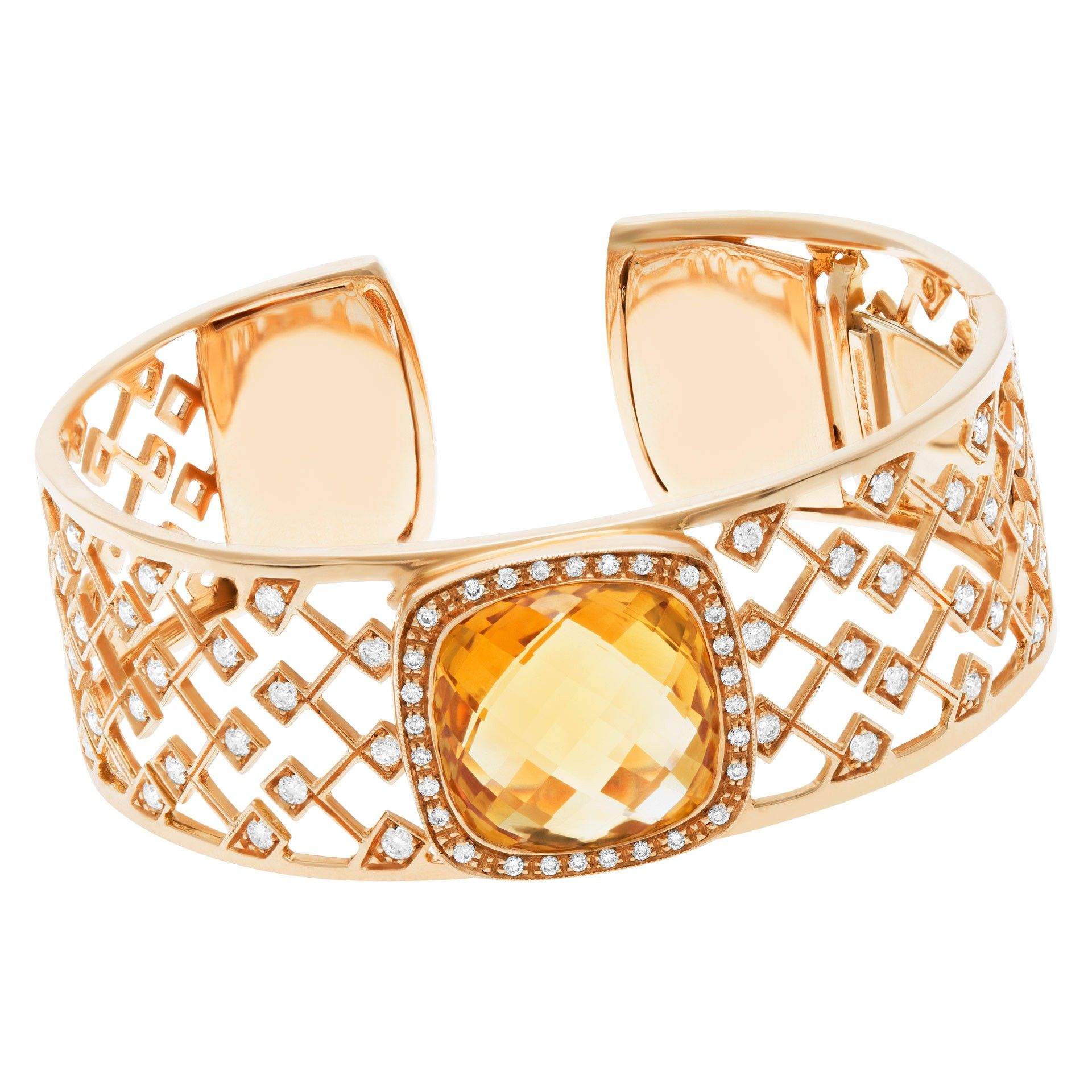 Roberto coin roberto coin k rose gold with citrine and diamonds