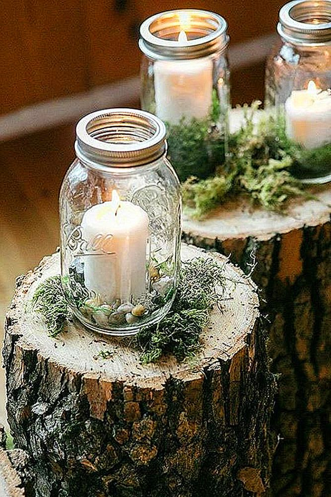 Gorgeous mason jars wedding centerpieces