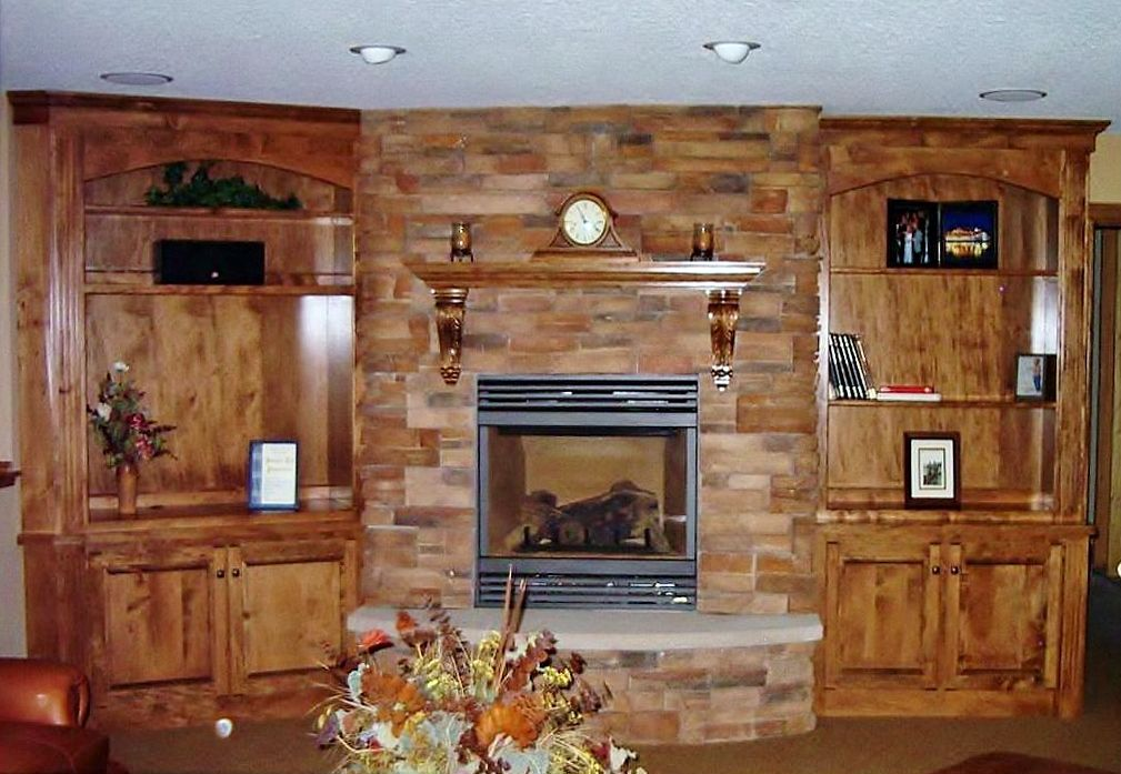 Beautiful complete entertainment storage. Made By: Lakeside Cabinets and Woodworking