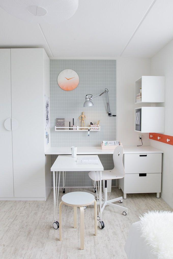 linnmon / krille tafel, wit - studentenkamer, woonkamer bureau en ikea, Deco ideeën