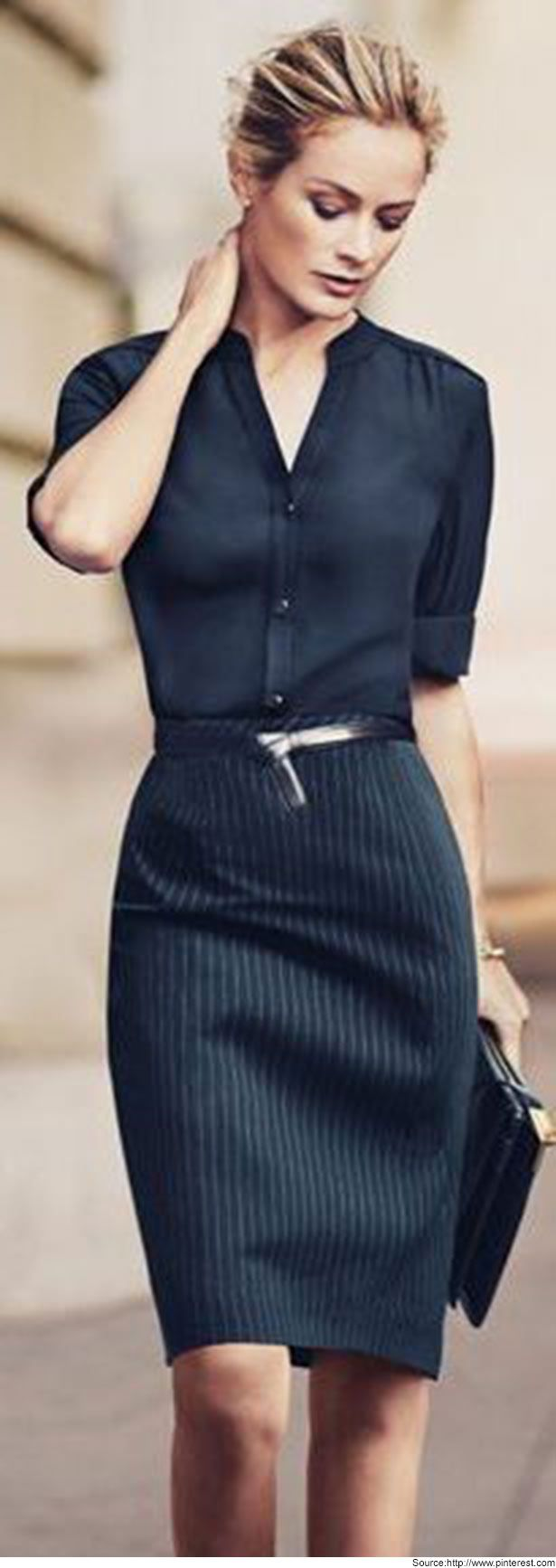 a72b6b9981 Blouses and shirts for the formal look with pencil skirt... Read more at