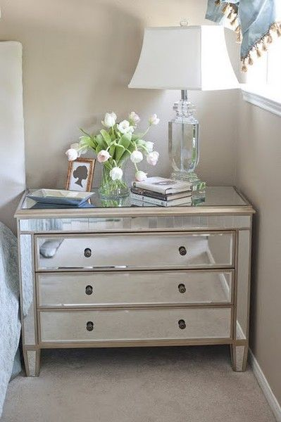 Nightstand styling - odd number of objects