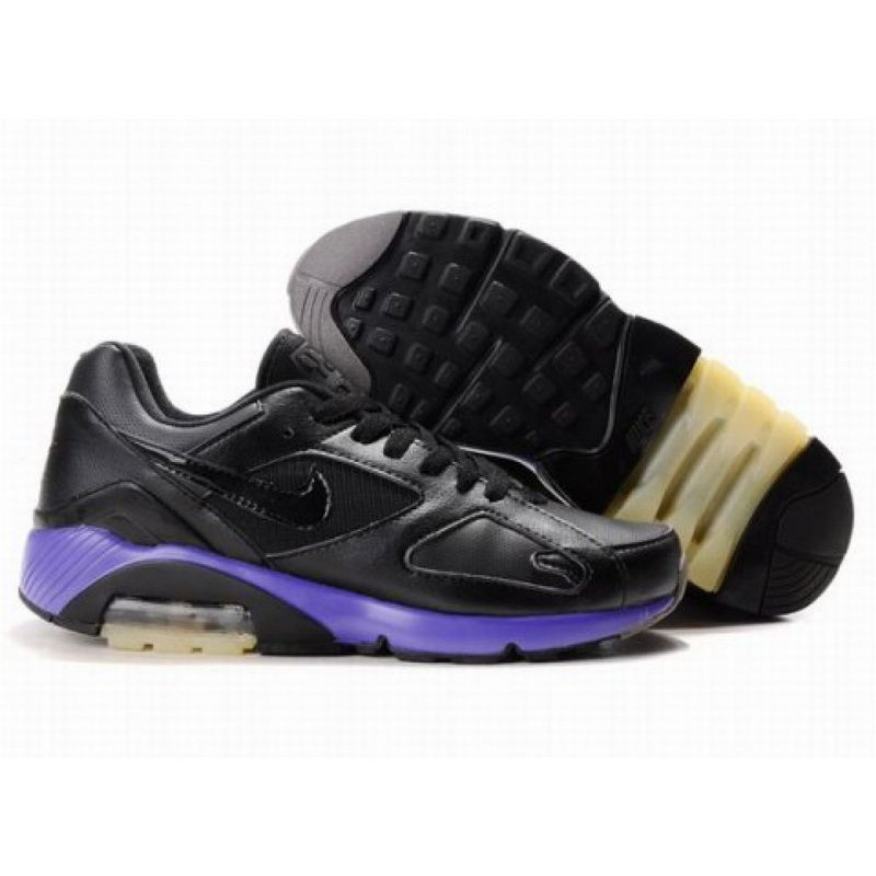 Mens Nike Air Max 180 Black Purple Shoe Wholesale Online
