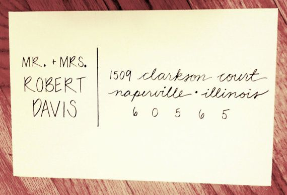 Handlettered Custom Addressed Envelope By Thavelettering On Etsy