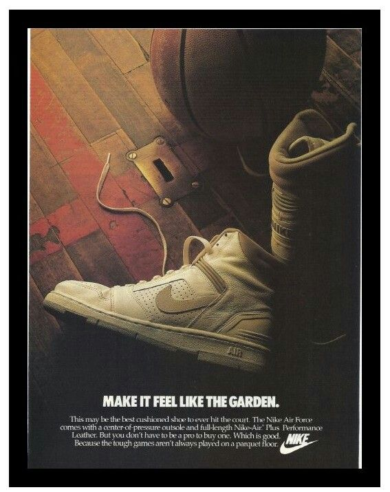 nike air force one advertising