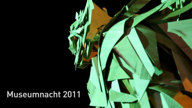 Interactive Video Projection Mapping on Sculptures