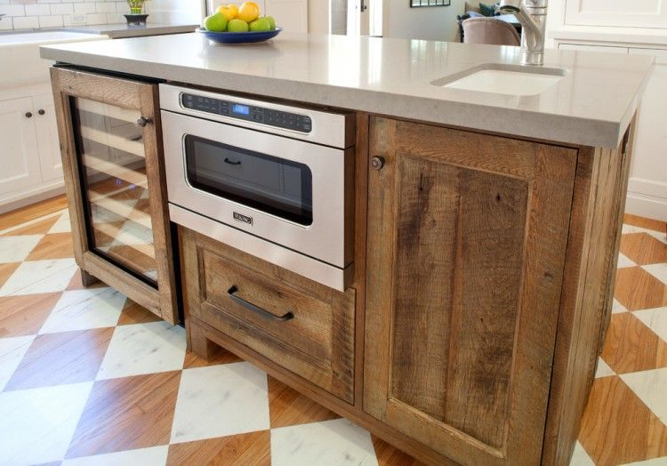 Reclaimed Wood Kitchen Cabinets Rustic Kitchen Island Wood