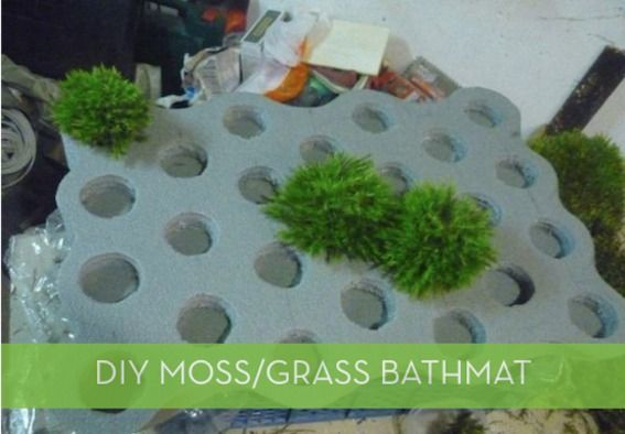 Pictorial How To Make A Moss Bathmat Bath Mat Diy Bath Mat