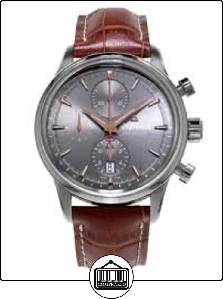 e5e5b532beb4 Alpina Alpina Alpiner Cronógrafo Automático Gris Dial Cuero Mens Reloj  AL-750VG4E6 ✿ Relojes para hombre - (Lujo) ✿