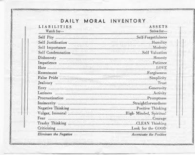 Origins of Moral Inventory - AA The Original Way GroupI STILL HAVE ...