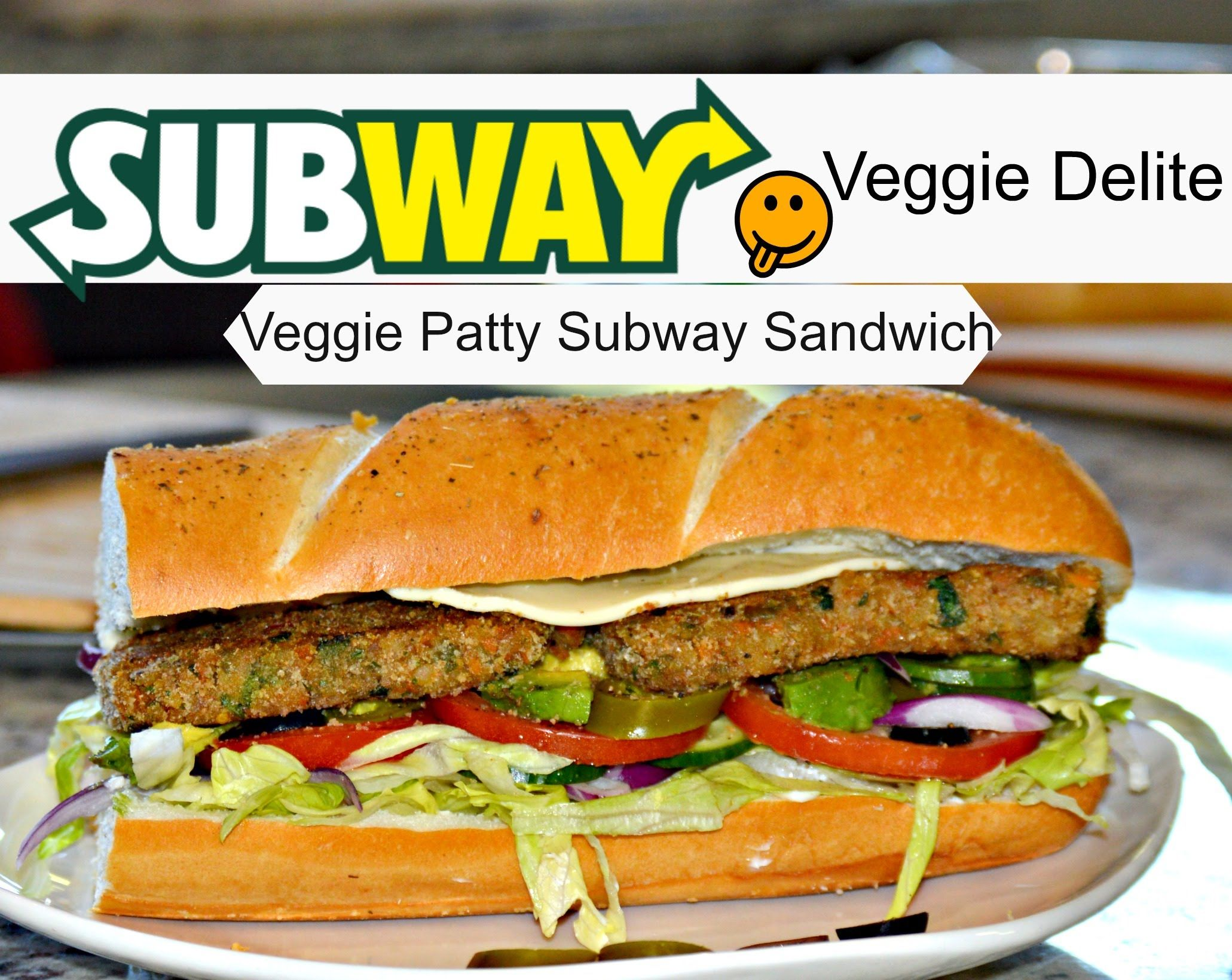 Subway veggie patty sandwich vegetarian junk food pinterest learn how to make very healthy subway sandwich at home and enjoy with veggie patty my veggie patty recipe is very easy and straightforward so forumfinder Gallery