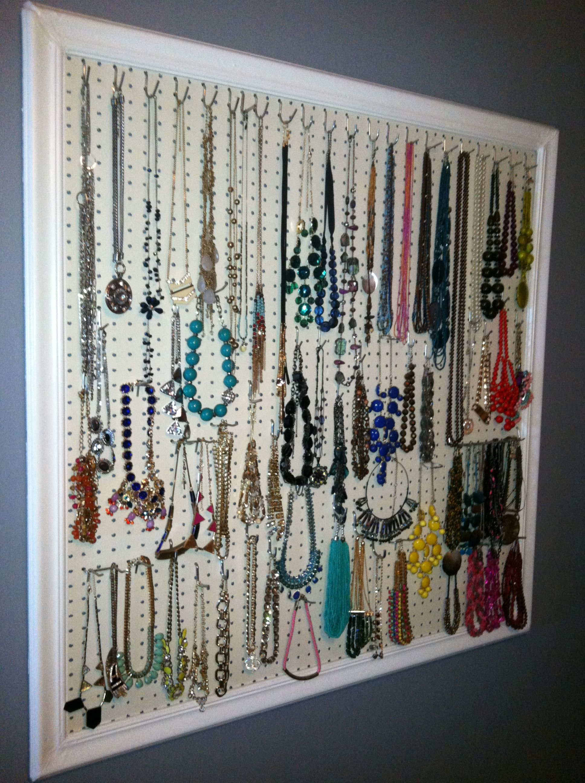 Necklace Display Using Pegboard Old Trim Paint And Some Power