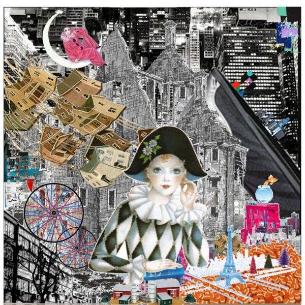 Paris, Paris by nadalina on Polyvore featuring art