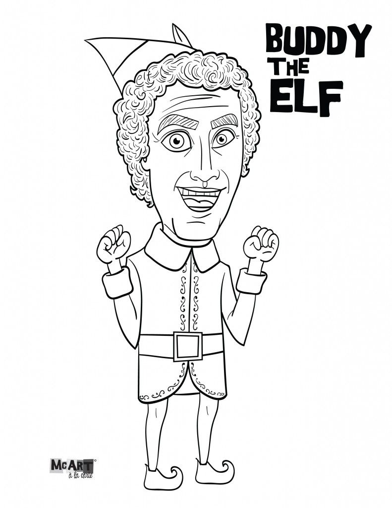 Buddy The Elf Jovie Coloring Pages Christmas Coloring Pages Buddy The Elf Elf Movie