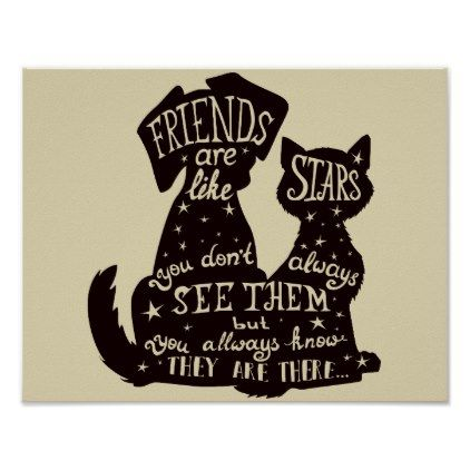 Gorgeous 'Friends Are Like Stars' Quote Poster