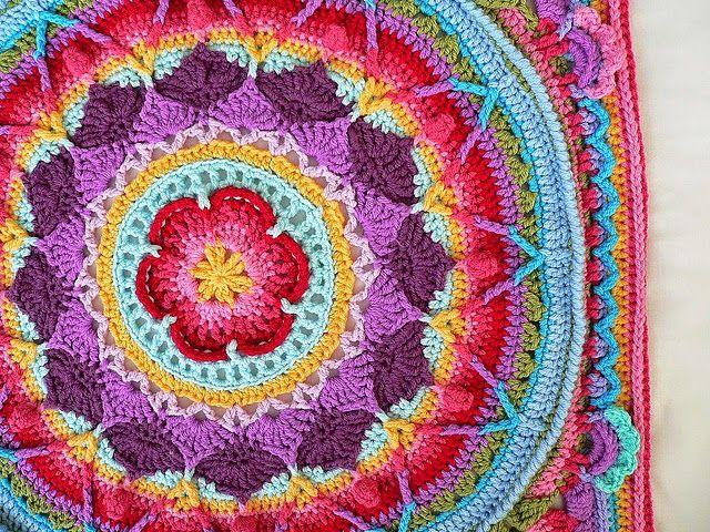 Paso a paso para tejer mandala alfombra con ganchillo | Crochet y ...