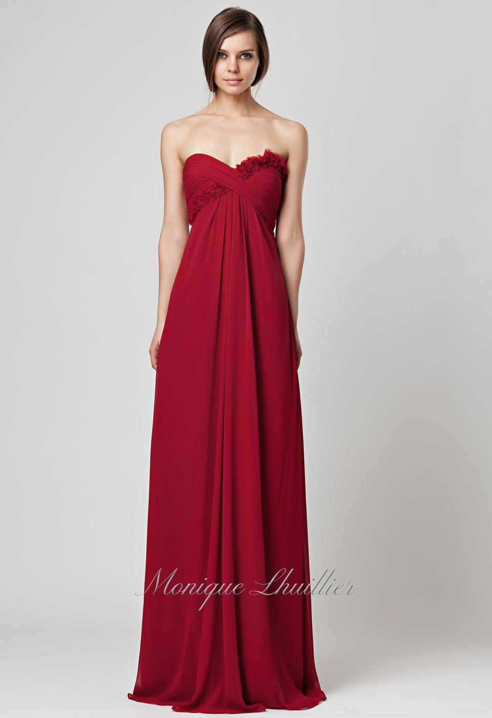Monique lhuillier bridesmaids dress in cranberry colour wheel search used wedding dresses preowned wedding gowns for sale ombrellifo Image collections
