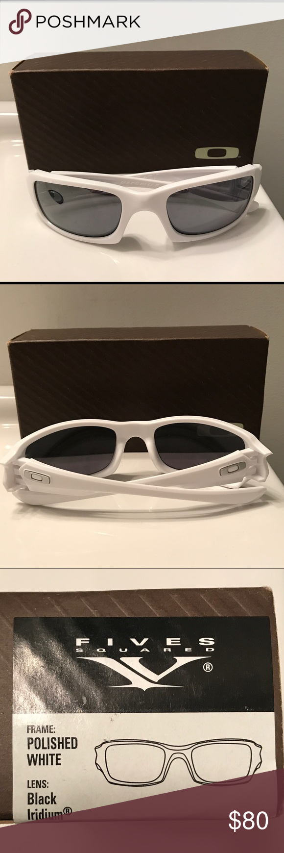 982d2df253 Oakley Fives Squared Sunglasses- Polished White Oakley Fives Squared 9079 Sunglasses  03-443 Polished White- Brand New Oakley Accessories Sunglasses