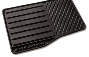 Ford Expedition Floor Mats All Weather Vinyl Front Rear  Piece Set With Vehicle Logo Black